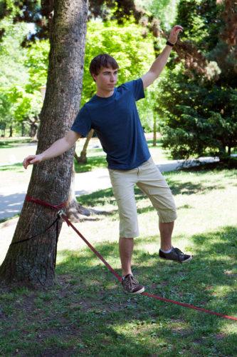 Baumschutz beim Slacklinen